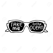 Summer Illustration Vector Card With Sunglasses And Quote