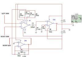 portable ecg circuit diagram of portable ecg