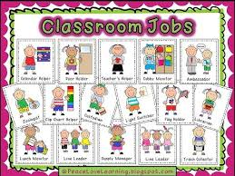 Classroom Job Chart Printable Classroom Job Printables From Peace Love And Learning