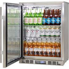 rhino 1 door triple glass door bar fridge brand name parts for longevity great