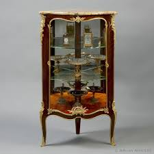 corner furniture pieces. a louis xv style petit corner vitrine with brche du0027alep marble top furniture pieces i
