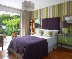 Good Vertical Striped Accent Wall.
