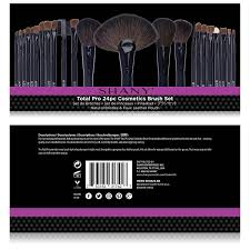 amazon shany studio quality natural cosmetic brush set with faux leather pouch 24 count shany beauty