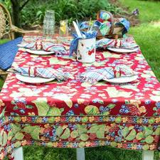round kitchen tablecloths ships immediately round red