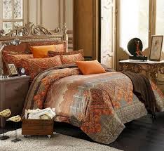 burnt orange comforter sets amazing