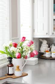 Simple Spring Decorations For The Kitchen Clean And Scentsible Extraordinary Flowers Decoration For Home Ideas