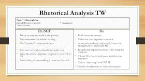 ap english language and composition ppt  rhetorical analysis tw