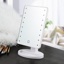 touch screen led lighted vanity cosmetic mirror makeup mirror with led lights free in makeup mirrors from beauty health on aliexpress com