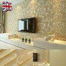 3D Victorian Damask Embossed Wallpaper ...