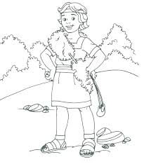 David And Goliath Coloring Pages For Preschoolers Printable Movie