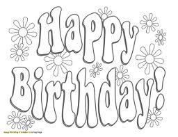 Happy Birthday Coloring Pages Free Beautiful Birthday Coloring Book