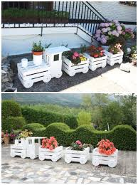 diy train planter projects picture