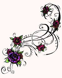 Flowers With Designs Free Tribal Flower Tattoo Designs Download Free Clip Art
