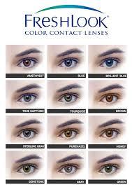 Contact Lenses Colour Chart Freshlook Colour Contact Lenses The Retail Times