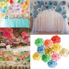 Rose Flower With Paper 30 40cm Paper Rose Flower Backdrop Wall Wedding Birthday Party Home