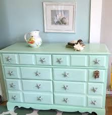 Mermaid Bedroom Decor Coastal Shabby Chic Vintage Dresser Painted In Landlocked
