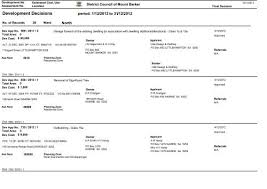 Monthly Building List - December 2012 - District Council of Mount ...