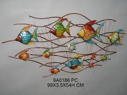 modern fish decor for walls house interiors clever ideas 175 best tropical wall painted metal funky art garden whimsical 28