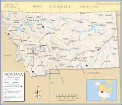 reference map of montana usa  nations online project