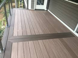 wolf composite decking. Simple Wolf WOLF PVC Decking In Weathered Ipe With Black Walnut Borders With Wolf Composite Home Products