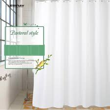 modern bathroom shower curtains. Plain Shower UFRIDAY High Quality White Shower Curtains Modern Bath Curtain  Bathroom Waterproof Screen Hotel Intended N