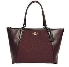 Amazon.com  Coach AVA Legacy Jacquard Tote Bag Handbag, Black Antique  Nickel, Oxblood 1  Shoes