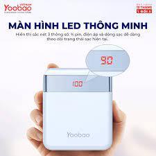 Pin sạc dự phòng 10000mAh YOOBAO M4Pro 2 cổng USB có đèn pin LED - hàng  chính hãng - Pin sạc dự phòng di động