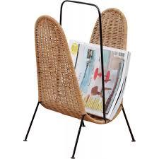 Rattan Magazine Holder Vintage Scandinavian Rattan Magazine Rack 100s Design Market 64
