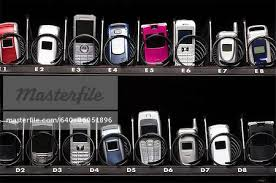 Phone Vending Machine Stunning Cell Phones In A Vending Machine Stock Photo Masterfile