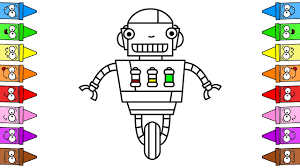 This website offers a collection of interesting robot coloring pages for you to choose from. Robot Coloring Page Draw Robot Easy Drawing Robots For Kids Youtube