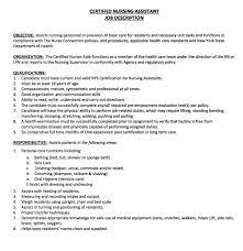 Sample Cna Resume Good Cna Skills Job Description Skills Job
