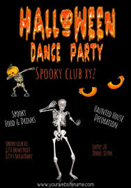 Halloween Dance Flyer Templates Halloween Dance Party Flyer Template Video
