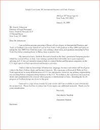 International Business Cover Letter Sample Cover Letter