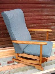 platform rocking armchair spring rocker chair nursing chair mid century 1950 60 s