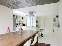 london galvanized tin ceiling with kitchen and bathroom remodelers dining room eclectic
