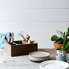 table holder. wooden \u0026 brass flatware holder table