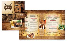 To Go Menu Templates Steakhouse Bbq Restaurant Menu Template Design