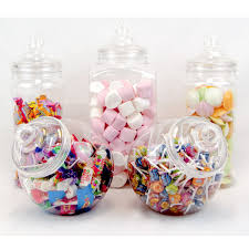 5 large retro plastic jars candy buffet sweet wedding kids jumbo party kit
