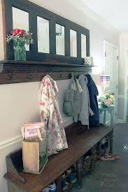 Old Door Coat Rack And Bench Enchanting Coat Rack Made From An Old Door Pretty Handy Girl