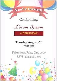 Party Invitation Card Template Birthday 1st Free