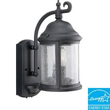 ashmore collection textured black 2 light wall lantern