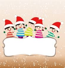 Christmas Background Kids Vector Images Over 7 400
