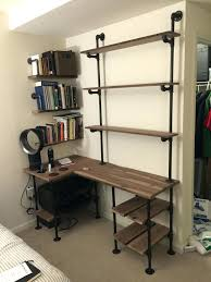 computer desk shelving unit pipe and walnut l shaped desk with shelves computer desk shelf computer desk shelving unit