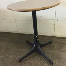 george nelson herman miller grey top round end table