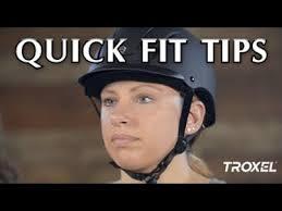 Troxel Riding Helmet Quick Fit Tips