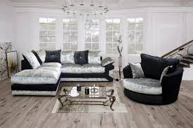 sofailove brand new vegas corner swivel cuddle chair sofa available in black silver brown beige co uk kitchen home