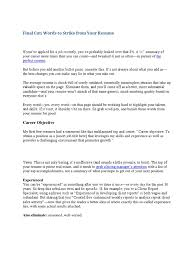 Words To Strike From Your Resume Recruitment Resume