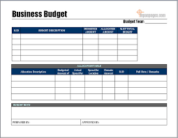Business Budget Example - Kleo.beachfix.co