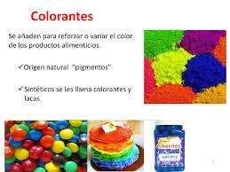Colorantess Naturales Y Artificiales Docsity
