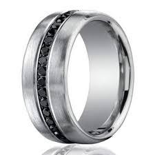 7 5mm 950 Platinum Black Diamond Men S Wedding Ring
